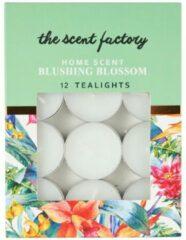 Xenos Home scent theelicht met geur - Blushing Blossom - set van 12