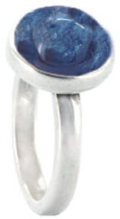Qoss Ring Mikki Jeansblauwe Steen - Maat XXL