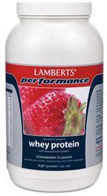 Afbeelding van Lamberts Whey Protein Strawberry - 1000 gram - Eiwitshake
