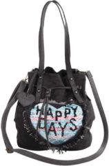 Tas Taschenherz zwart/jeansblauw