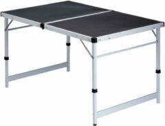 Donkergrijze Visabella Isabella tafel opvouwbaar 120cm x 80cm