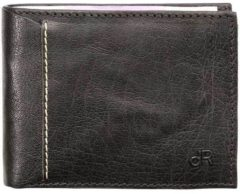 Zwarte DR Amsterdam Waxi Billfold 8CC black Heren portemonnee