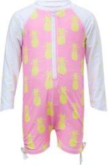 Roze Snapper Rock Zwempak met ananasdessin en UV-bescherming