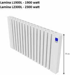 Witte Jawo Lamina Electrische Radiator met Koalit steen 2300 watt; 24 uur Verwarming voor 6 uur stroom