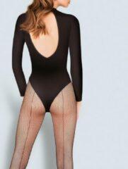 Gabriella KABARETTE 155 zwart netpanty's met naad maat 1-2 S-M