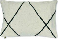 Poufs&Pillows Berber Beni Ourain kussen Wit - Bohemian stijl - Kelim stof - 55 x 40 CM