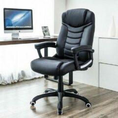 Zwarte MIRA home Ergonomisch draaibaar directiestoel | Bureaustoel | Kunstleder | Luxe design | Comfortabel