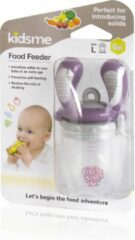KidsMe Food Feeder Single Pack(Size:L) - Plum(Tri-Fold Silicone Sac)Blister card