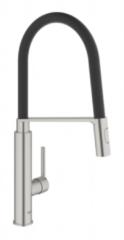 Roestvrijstalen GROHE Feel Professional Keukenkraan - Hoge draaibare uitloop - 2 straalopties - RVS