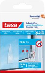 Transparante 16x Tesa Powerstrips klein voor spiegels/ruiten klusbenodigdheden - Klusbenodigdheden - Huishouden - Plakstrips/powerstrips - Dubbelzijdig - Zelfklevend - Tape/strips/plakkers