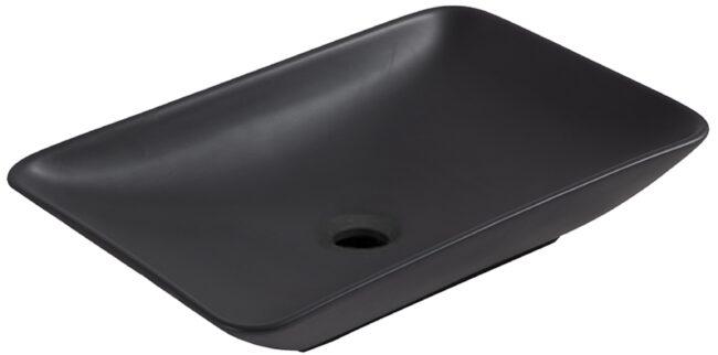 Afbeelding van Mueller Kare opzet wastafel 58x36x11cm mat zwart