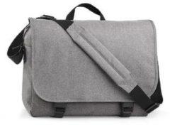 Zwarte Merkloos bagbase two-tone digital schoudertas grey marl 11 liter