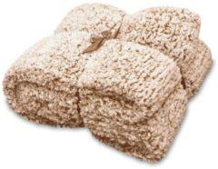 Unique Living Knut fleece plaid - 100% polyester, Fleece polyester - 150x200 cm - Bruin