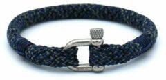 Donkerblauwe MR. JACOB Marcus driekleurige touw armband