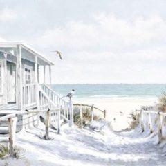 Massamarkt Ambiente Servet 33cm Beach Cabin