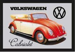 Nostalgic Art Merchandising Volkswagen KEVER Cabriolet - Spiegel met Omlijsting - 22x32cm