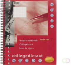 Multo collegedictaat ft 16,5 x 21 cm, geruit 5 mm, 17-gaatsperforatie