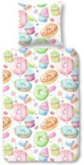 Kinderbettwäsche, Good Morning, »Donut«, mit Donuts als Muster