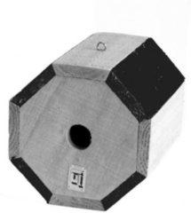 Merkloos / Sans marque Bellatio Rond Vogelhuisje Hout - Vogelhuisje - 17 cm