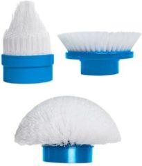 Set van 3 reserveborstelsHurricane Spin Scrubber MediaShop wit/blauw