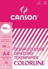 Canson gekleurd tekenpapier Colorline formaat 21 x 297 cm (A4)