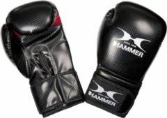 Hammer Boxing Gloves X-Shock Bokshandschoenen - Unisex - zwart/rood Maat 8 Oz/ 226, 792 gram - wedstrijden/ juniormaat