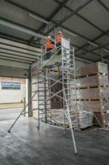Grijze Lockhard Rolsteiger Hoogwerker de Alulift werkhoogte 700 cm. - De Solarlift bij uitstek! 250 kg belastbaar.