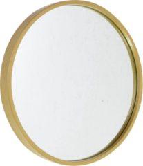 Fragix Boston wandspiegel rond - Goud - Metaal - Ø35cm - Industrieel