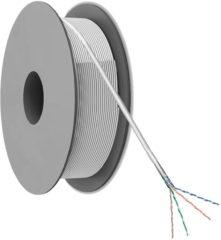 Netwerkkabel CAT 5e F/UTP Goobay 50973 4 x 2 x 0.20 mm² Grijs 100 m