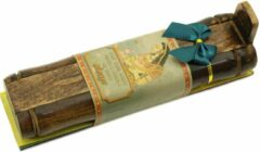 Prabhuji's Gifts Wierook geschenkpakket 'Chakra' (3 pakjes), inclusief houder van mangohout