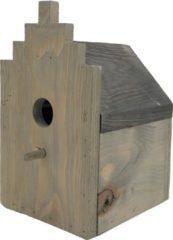 Garden Spirit - Vogelhuisje Grachtenpand - Nestkast voor Koolmees - Hout - Grijs Zwart - Vogels