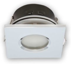 Led-line LED line Inbouwspot - Vierkant - Waterdicht IP44 - GU5.3 Fitting - 80x80 mm - Chroom