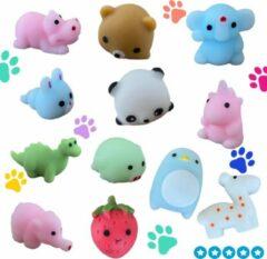 Blauwe Pop it Store Mochies set van 5 schattige Mochi squishy fidgest-diertjes -soft