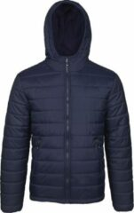 Marineblauwe Jartazi Winterjas Bari Junior Nylon/polyester Navy Mt 122/128