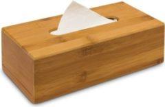 Relaxdays Kosmetiktücherbox Bambus ovale Öffnung