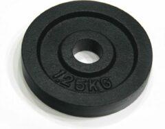 Zwarte RS Sports Halterschijven - Gietijzer - 2 x 1,25 kg - Ø 30 mm