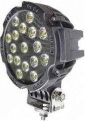 Zwarte ABC-Led LED SPOT - 16 x 3 watt - front light - WIT - OFF-ROAD - Rond