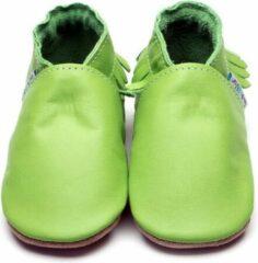 Inch Blue babyslofjes moccasin apple groen maat L (13,5 cm)