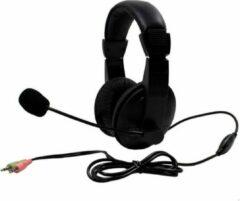 Poqlo Universele PC Headset - Ingebouwde Microfoon - Zwart - Accessoires - Draagbare Headset - Kantoor/Werk/Gaming Headset - 3.5mm Hoofdtelefoon - Zwart