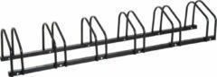 NiceGoodz Fietsenrek - Fietsrek -Fietsstandaard - Voor 6 fietsen - Muurmontage mogelijk - 160 x 33 x 27 cm - Zwart