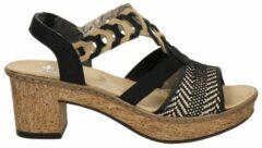 Rieker sandalettes zwart/bruin