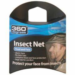 360 Degrees - Mosquito Insect Head Net - Muskietengaas maat One Size, zwart