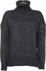 Blauwe Moscow Cowl Sweater - Night Blue Melange - Maat S
