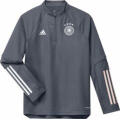 Donkergrijze Adidas uefa euro 2020 dfb duitsland trainingstop 20/22 grijs kinderen
