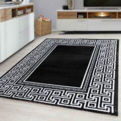 Parma Design Vloerkleed Zwart / Grijs Laagpolig - 80x300 CM