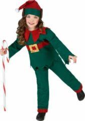 Groene B&W Filter WELLY INTERNATIONAL - Kerstelf outfit voor kinderen - 140/152 (10-12 jaar) - Kinderkostuums
