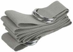 #DoYourYoga - strap voor yogamat - »Yuki« - verstelbare transportriem voor alle standaard yoga-, pilates- en extra dikke fitnessmatten - 196 x 3,7 cm - grijs