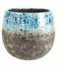 Lichtblauwe Ter Steege Pot Lindy Sky Blue blauwe ronde bloempot voor binnen 30 cm