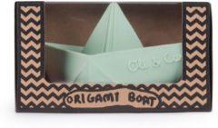 Groene Oli & Carol Bijtspeeltje Origami Mint