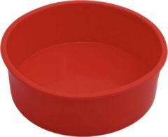 WiseGoods Ronde Taartvorm - Siliconen Cakevorm - Siliconen Bakvorm - Taarten Bakken - Rond - Ø 15.5 cm - Rood